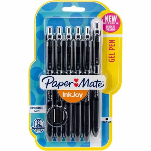 Paper Mate Inkjoy Gel Pens .7mm 6/Pkg-Black Perspective: front