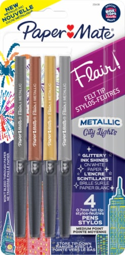 Paper Mate Metallic Flair Pens - Assorted Perspective: front