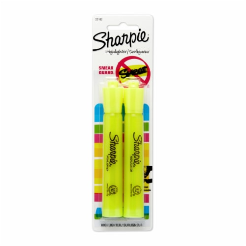 Sharpie Smear Guard Chisel Tip Highlighter - Yellow Perspective: front