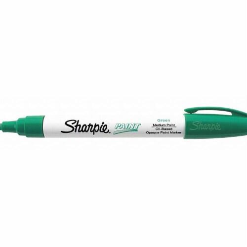 Sharpie Permanent Paint Marker, Medium Bullet Tip, Green 35552 Perspective: front