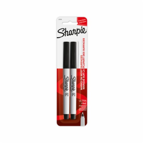 Sharpie Precision Ultra Fine Permanent Markers - Black Perspective: front