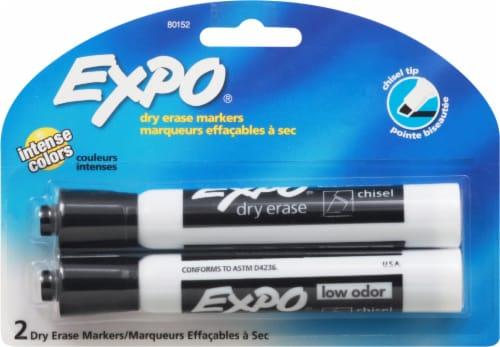 Expo Chisel Tip Bold Color Dry Erase Marker 2 Pack - Black Perspective: front