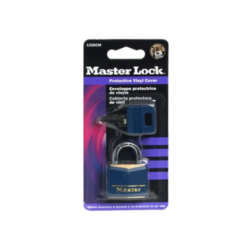 Master Lock Covered Solid Body Padlock - Blue Perspective: front