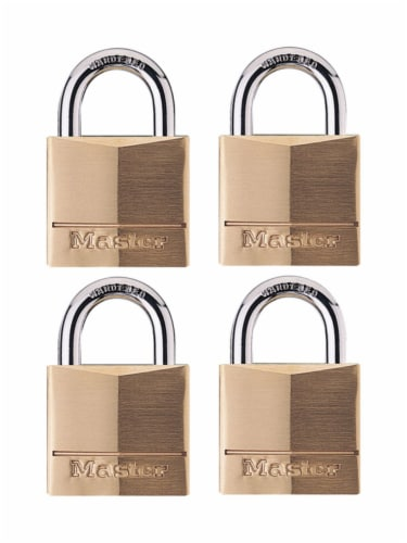 Master Lock 1-9/16 in. W Brass 4-Pin Cylinder Padlock Perspective: front