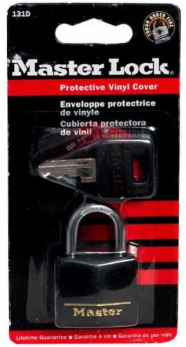 Master Lock Protective Vinyl Cover Lock - Black Perspective: front