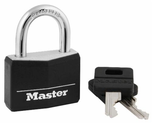 Master Lock Covered Keyed Padlock - Black Perspective: front