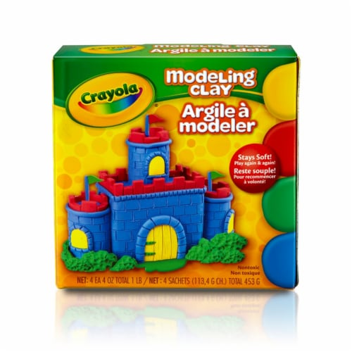 Crayola Non-Drying Modeling Clay Pack Perspective: front