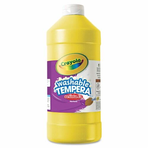 Crayola Artista Ii Washable Tempera Paint, Yellow, 32 Oz Bottle 543132034 Perspective: front