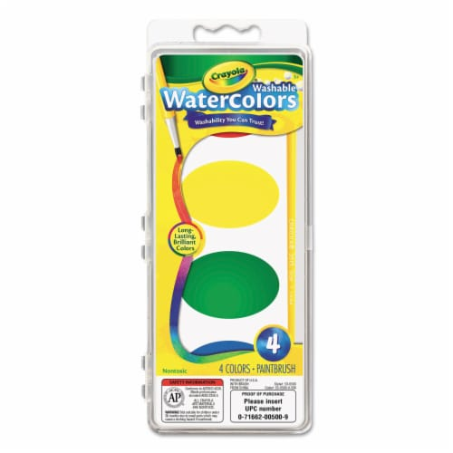 Crayola Llc Formerly Binney & Smith Bin1500 So Big Water Color-Refill 4 Colors Perspective: front