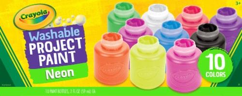 Crayola Washable Kids' Neon Paint Set - 10 Piece Perspective: front