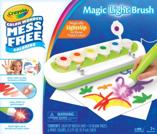 Crayola Color Wonder Mess Free™ Magic Light Brush Coloring Set Perspective: front