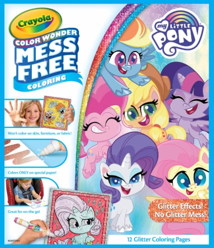 Crayola Color Wonder My Little Pony Glitter Coloring Book & Markers Perspective: front