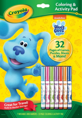 Crayola Blue's Clues & You Coloring & Activity Pad Perspective: front