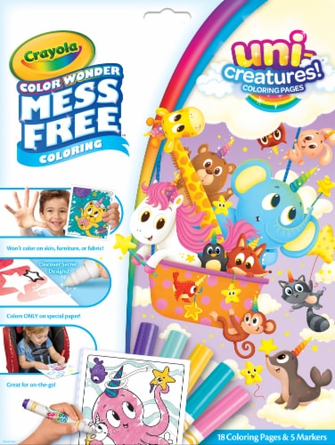 Crayola Color Wonder Uni-Creatures Coloring Pages Perspective: front