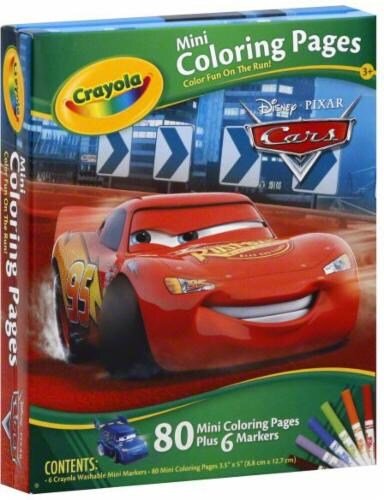 Food 4 Less Crayola Cars Mini Coloring Pages 1 Count
