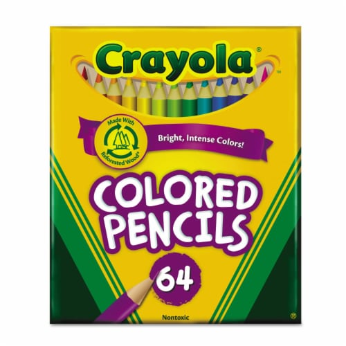 Crayola Pencil,Short,64/St,Ast 683364 Perspective: front