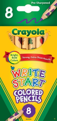 Crayola Write Start Toddlers' Colored Pencils Perspective: front