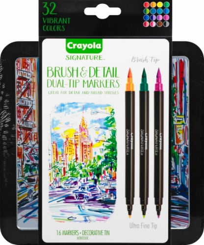 Crayola Dual-Tip Ultra-Fine Brush and Detail Markers Perspective: front