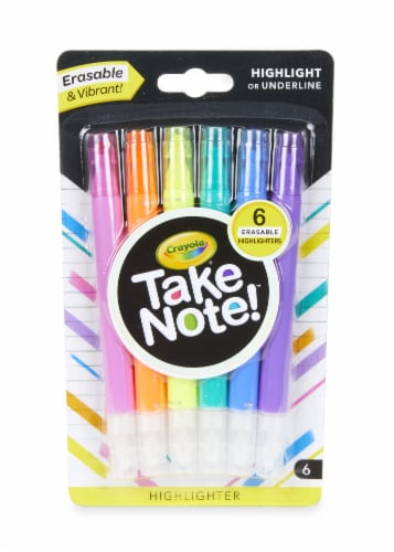 Crayola Take Note! Erasable Highlighters Perspective: front