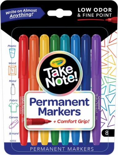Crayola Take Note! Permanent Markers Perspective: front