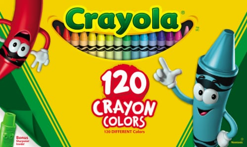 Crayola Crayons With Bonus Sharpener - Assorted Perspective: front