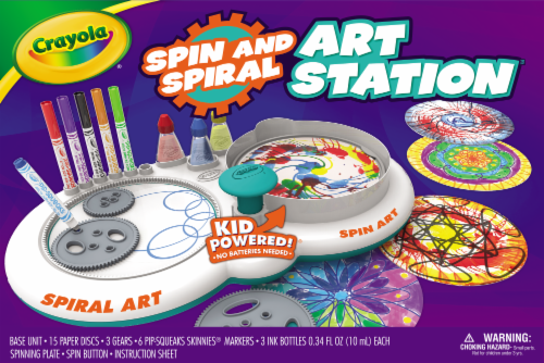 Crayola Spin and Spiral Art Station Perspective: front