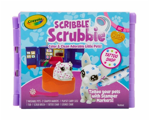 Crayola Scribble Scrubbie Pet Tattoo Shop Activity Perspective: front
