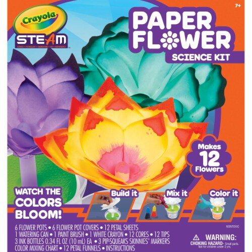Crayola Steam Paper Flower Science Kit Perspective: front