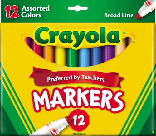 Crayola® Broad Line Markers Perspective: front