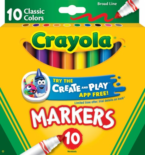 Crayola Broad Line Classic Color Markers Perspective: front