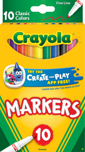 Crayola Classic Colors Fine Line Markers Perspective: front