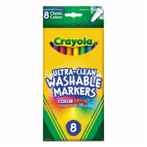 Crayola Washable Thin Line Markers - 8 Piece Perspective: front