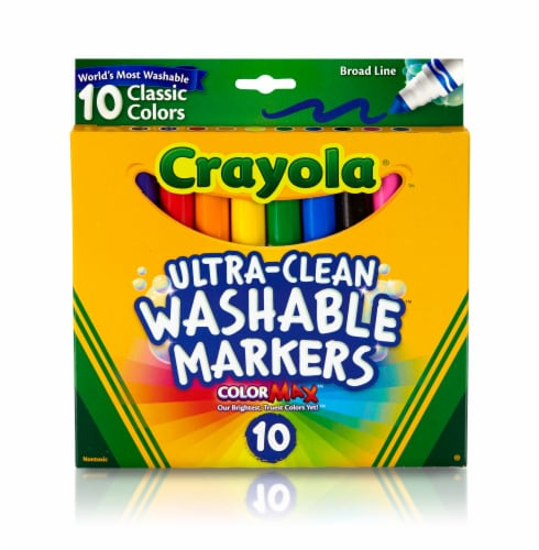 Crayola Ultra-Clean Washable Broad Line Markers Perspective: front