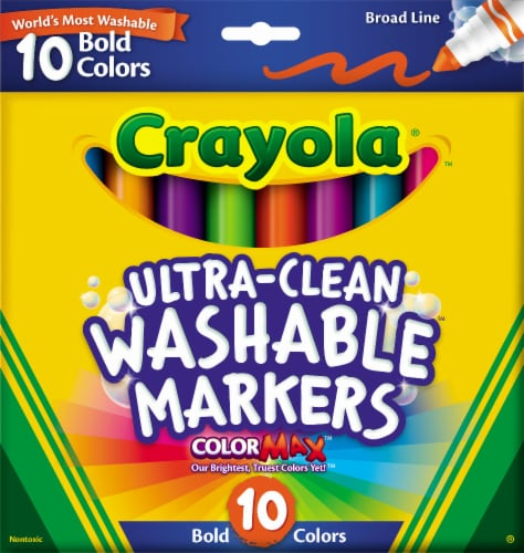 Crayola® ColorMAX™ Bold Ultra-Clean Washable Markers Perspective: front
