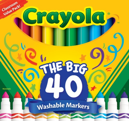 Crayola The Big 40 Washable Markers Perspective: front
