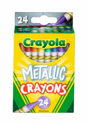 Crayola® Metallic Crayons Perspective: front
