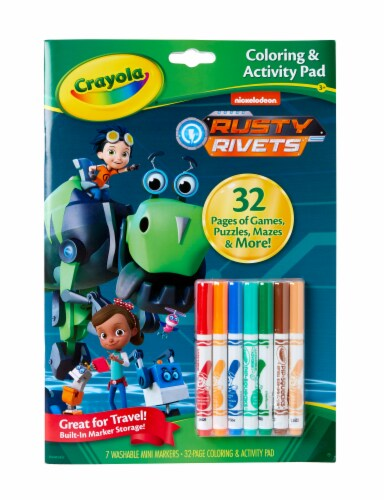 Crayola Rusty Rivets Coloring & Activity Book Perspective: front