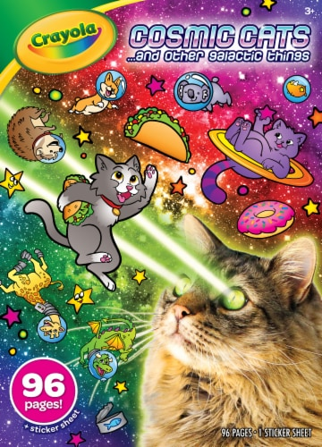 Crayola Cosmic Cats ...and Other Galactic Things Coloring Book Perspective: front