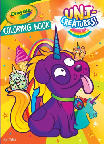 Crayola Uni-Creatures! Coloring Book Perspective: front