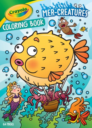 Crayola Mer-Creatures Coloring Book Perspective: front