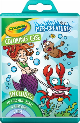 Crayola Mer-Creatures Coloring Case Perspective: front
