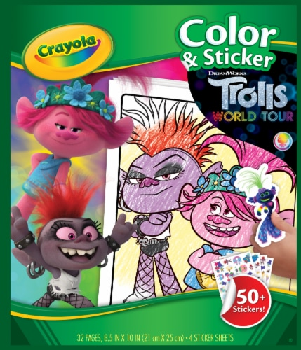 Crayola Trolls World Tour Color & Sticker Pack Perspective: front