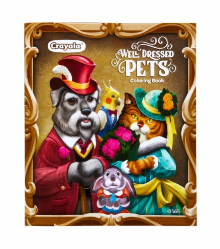 Crayola Well Dressed Pets Coloring Book Perspective: front