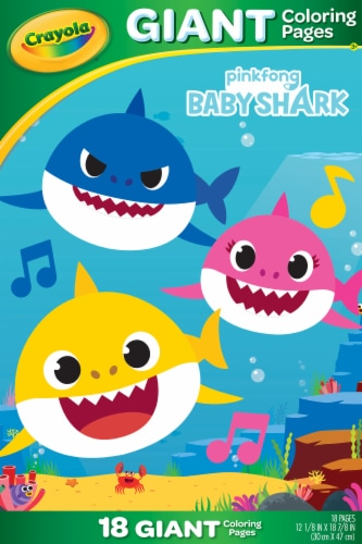 Crayola Baby Shark Giant Coloring Book Perspective: front