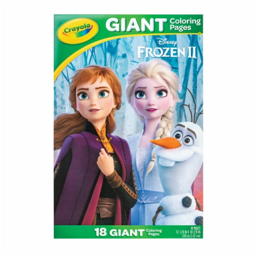 Crayola Frozen 2 Giant Coloring Pages Perspective: front