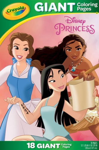 Crayola Disney Princess Giant Coloring Pages Perspective: front