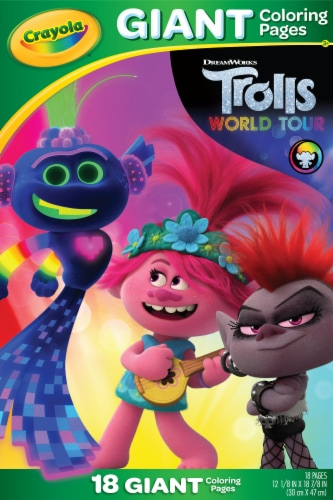 Crayola Trolls World Tour Giant Coloring Pages Perspective: front