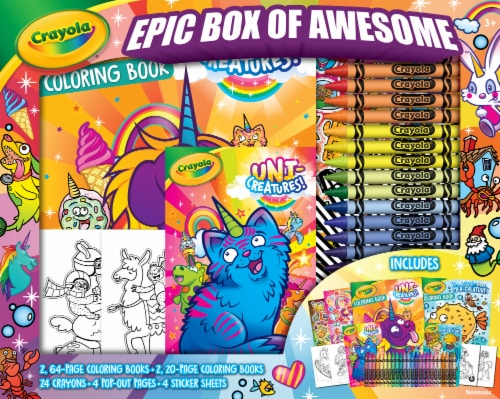 Crayola Epic Box of Awesome Uni-Creatures Mer-Creatures Activity Kit Perspective: front