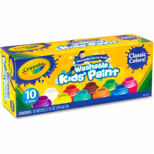 Crayola Classic Washable Kid's Project Paint - 10 Pack Perspective: front