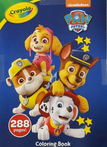 Crayola Nickelodeon Paw Patrol Coloring Book Perspective: front